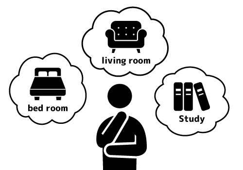 設置する部屋数を調べる