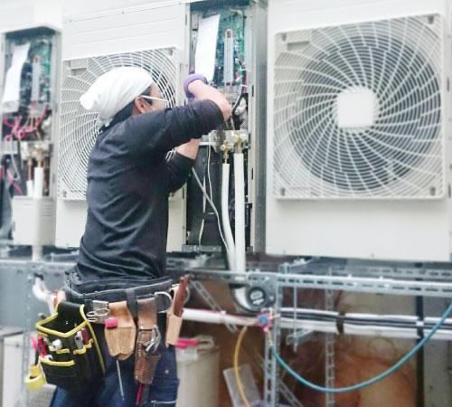 業務用エアコンの工事について