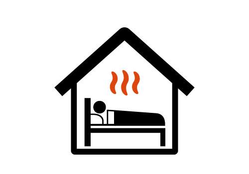 部屋全体を暖められる
