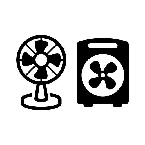 送風機やサーキュレーターを併用