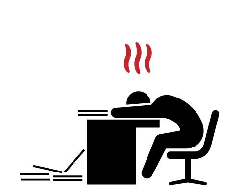 従業員の作業効率低下や体調不良