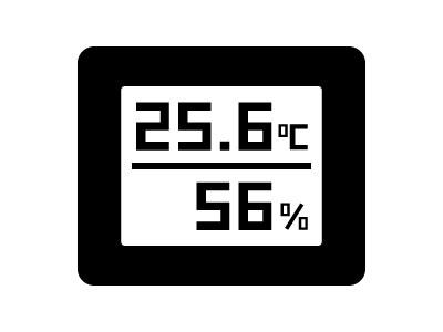 室内の温度と湿度を確認