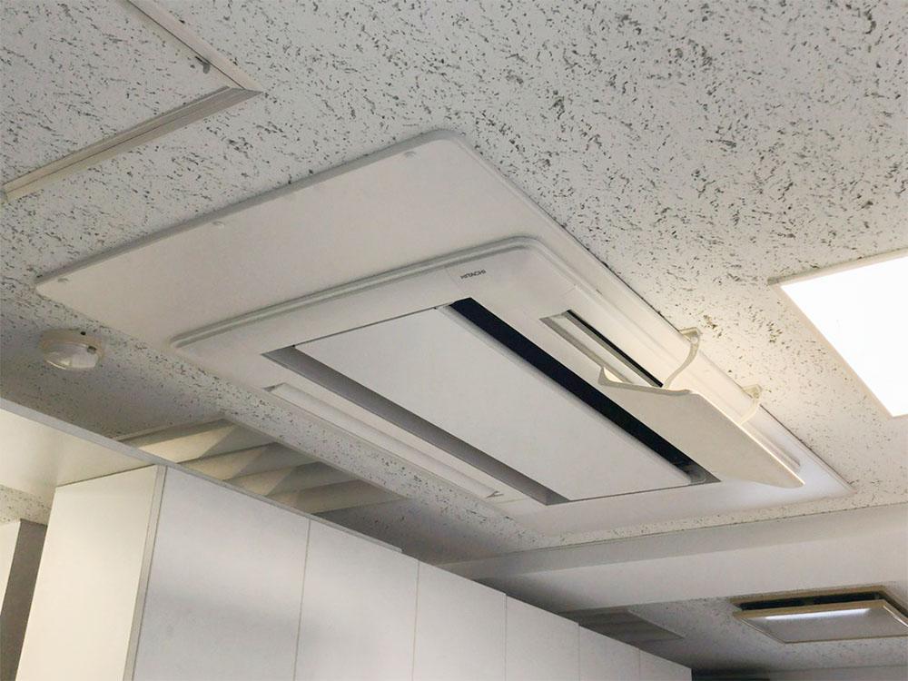 日立製業務用天井埋め込みエアコン入替え工事|渋谷区