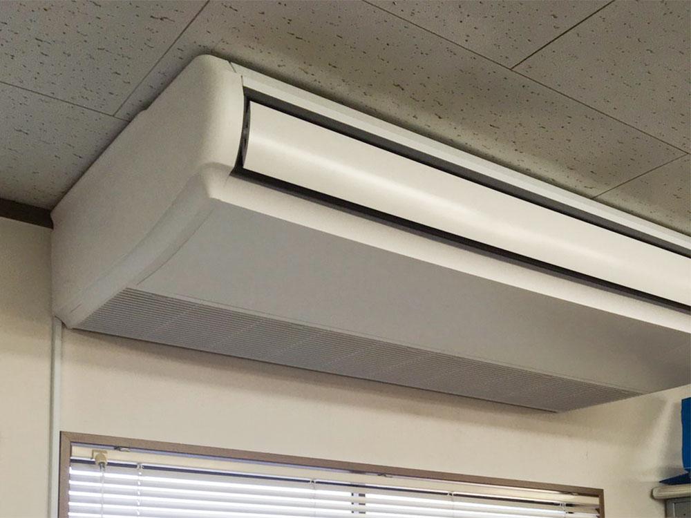 日立製業務用天吊りエアコン入替え工事|国立市