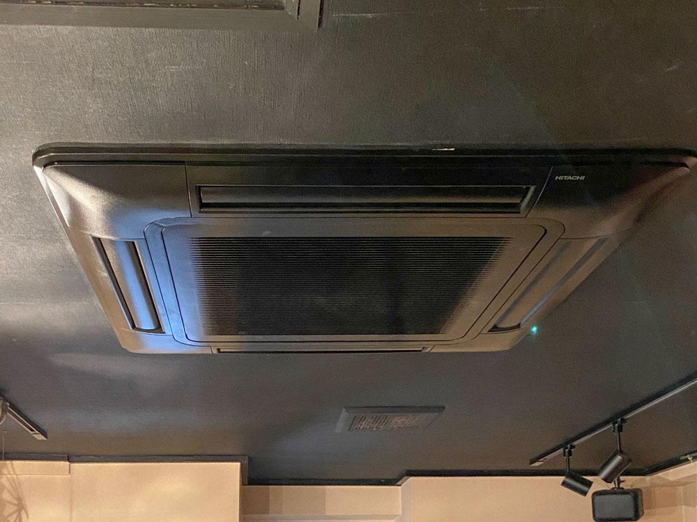 日立製業務用天井埋め込みエアコン入替え工事|調布市