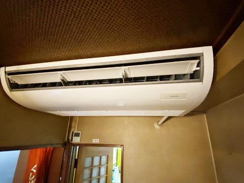 東芝製業務用天井吊り形エアコン入替え工事|府中市
