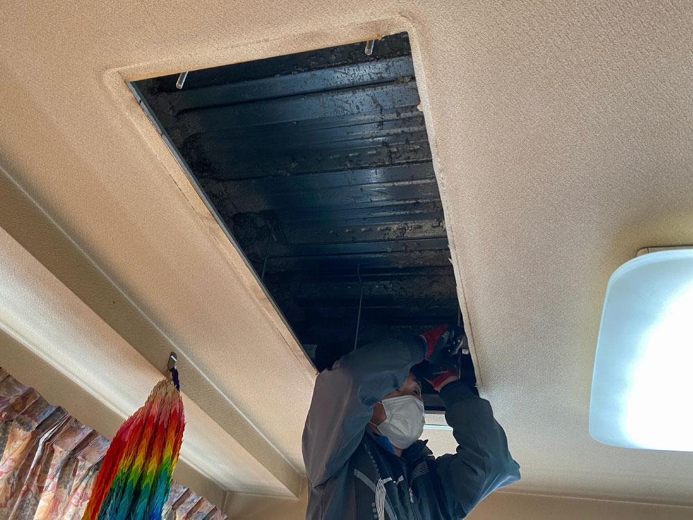 天井開口調整