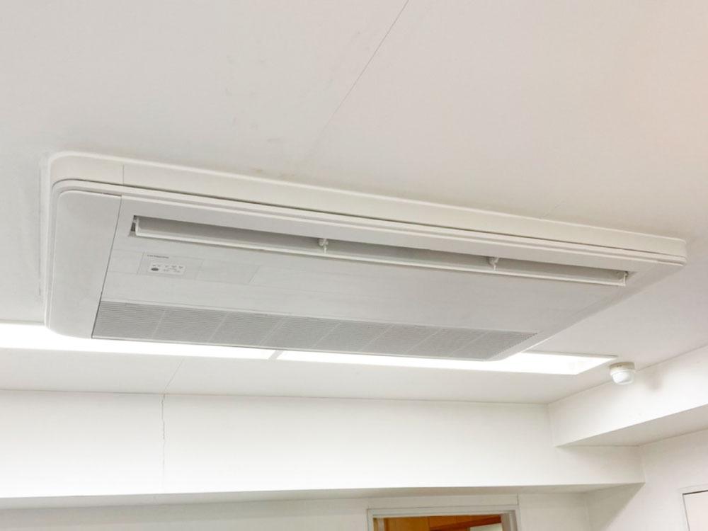 日立製業務用天井埋め込みエアコン入替え工事|横浜市