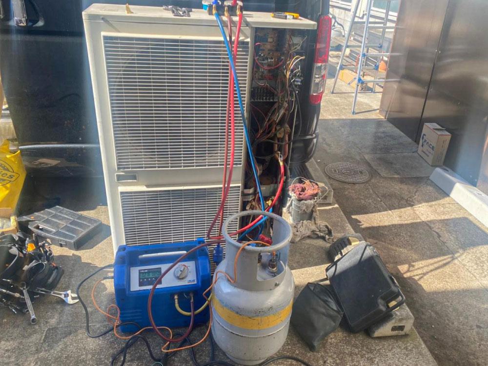 既存室外機ガス回収