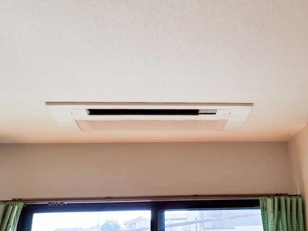 パナソニック製家庭用天井埋め込みエアコン入替え工事|横浜市