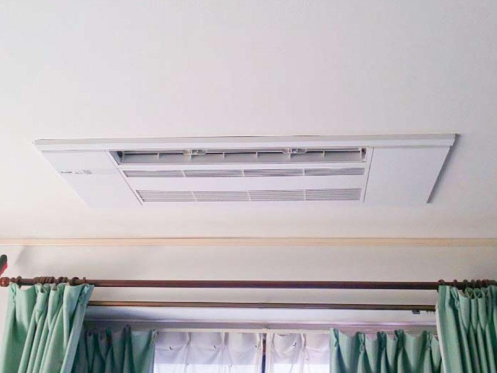 三菱電機製家庭用天井埋め込みエアコン&東芝製家庭用壁掛けエアコン入替え工事|狭山市